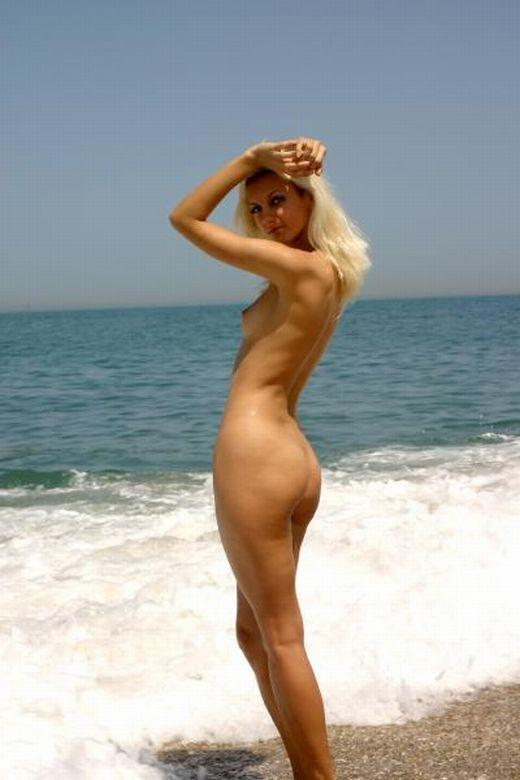 Cute Blonde on Nude Beach