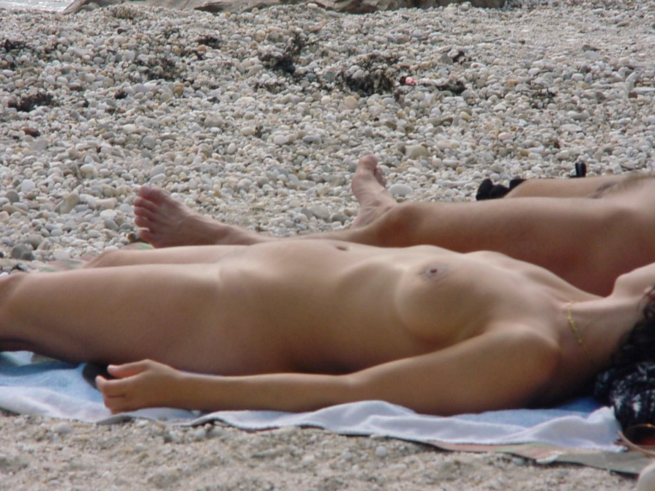 Nude beach girls Greece