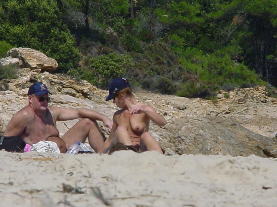 Redhead topless nude gif