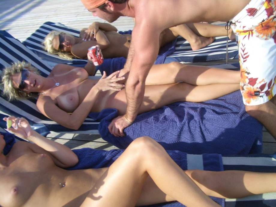 Nude couple on the boat TOP