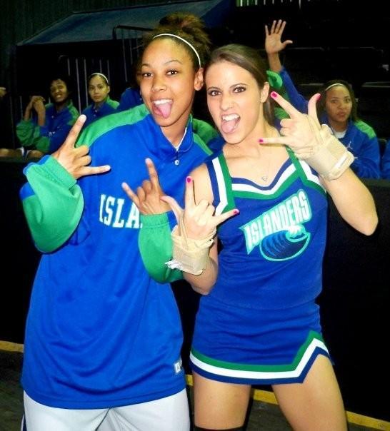 Sexy cheerleaders at basketball  TOP
