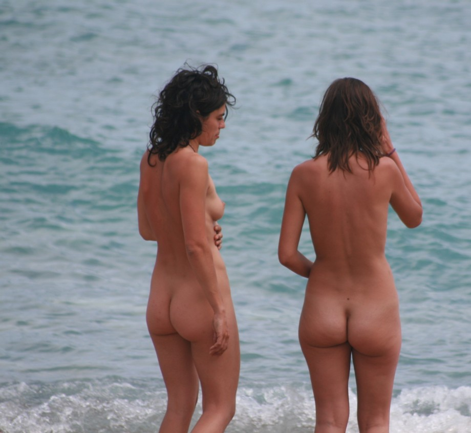 naked in spain on the beach