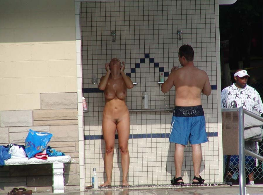 The naked girls in public shower