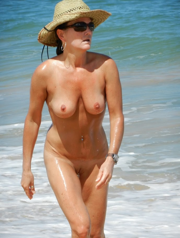 hot nude milf at the beach