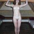 Horny young girl showing naked body