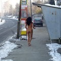 Naked girl at public 14