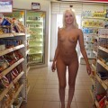 Naked girl at public 16