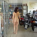 Naked girl at public 20