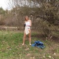 Young girl naked outdoor