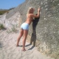 Hot amateur sets - blond girl at vacantion