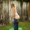 Outdoor amateur possing