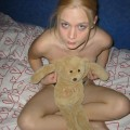 Stolen pics - blonde girl showing shaved pussy