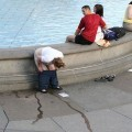 Young amateurs peeing - pissing in public no.02