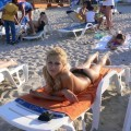 Blond chick on holiday -  italian beach