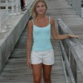 Blond girl - holiday on boat