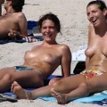Wifes and girlfriends at the beach