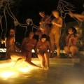 Night party & young girls in a pool 01