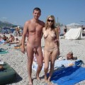Nudist couples in public