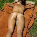 Girlfriend sunbathing