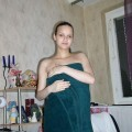 Young amateur pregnant girl