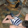 Drunk teen party, too much alcohol leads to...