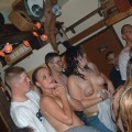 Wet college frat party