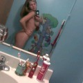 Young blond self shot and her big boobs