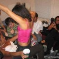 A girl at a party 3