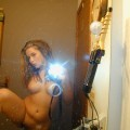 Selfshots of young girl