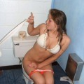 Young amateurs peeing - pissing in party home no.02