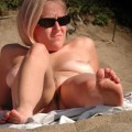 Day at the nudebeach /blond girl with shaved pussy