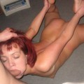 Stunning, red-headed wife does it all