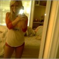 Sexy blonde amateur girl / self mobil pics