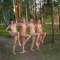 4 russians teens naked in the forest 20