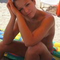 Young amateur nude girl on holiday