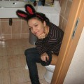 Young sweet amateur bunny