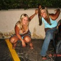 Young amateurs peeing - pissing in public no.03