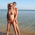Young Nudist Couple at Beach No.01 - 18