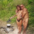 Young Nudist Couple at Beach No.01 - 36