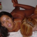 Threesome amateur action - 2 girls and 1 dick