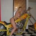 Amateur set - naked young girl on nice motorcycle