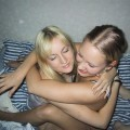 Amateur set - 2 lesbian girls with 1 boy - nice