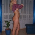 Amateur set - very nice blonde girl showing all