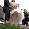 Wedding upskirt