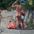 Voyeur at nudistbeach / fkk