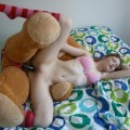 Blowjob and sex with her teddy bear , lol