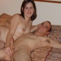 Young swinger couple