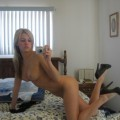 Blond amateur girl and her holiday selfpics