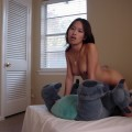 Hot asian teen fucking stuffed animal