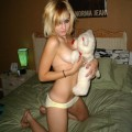 Young girls loves furry teddy bear and others